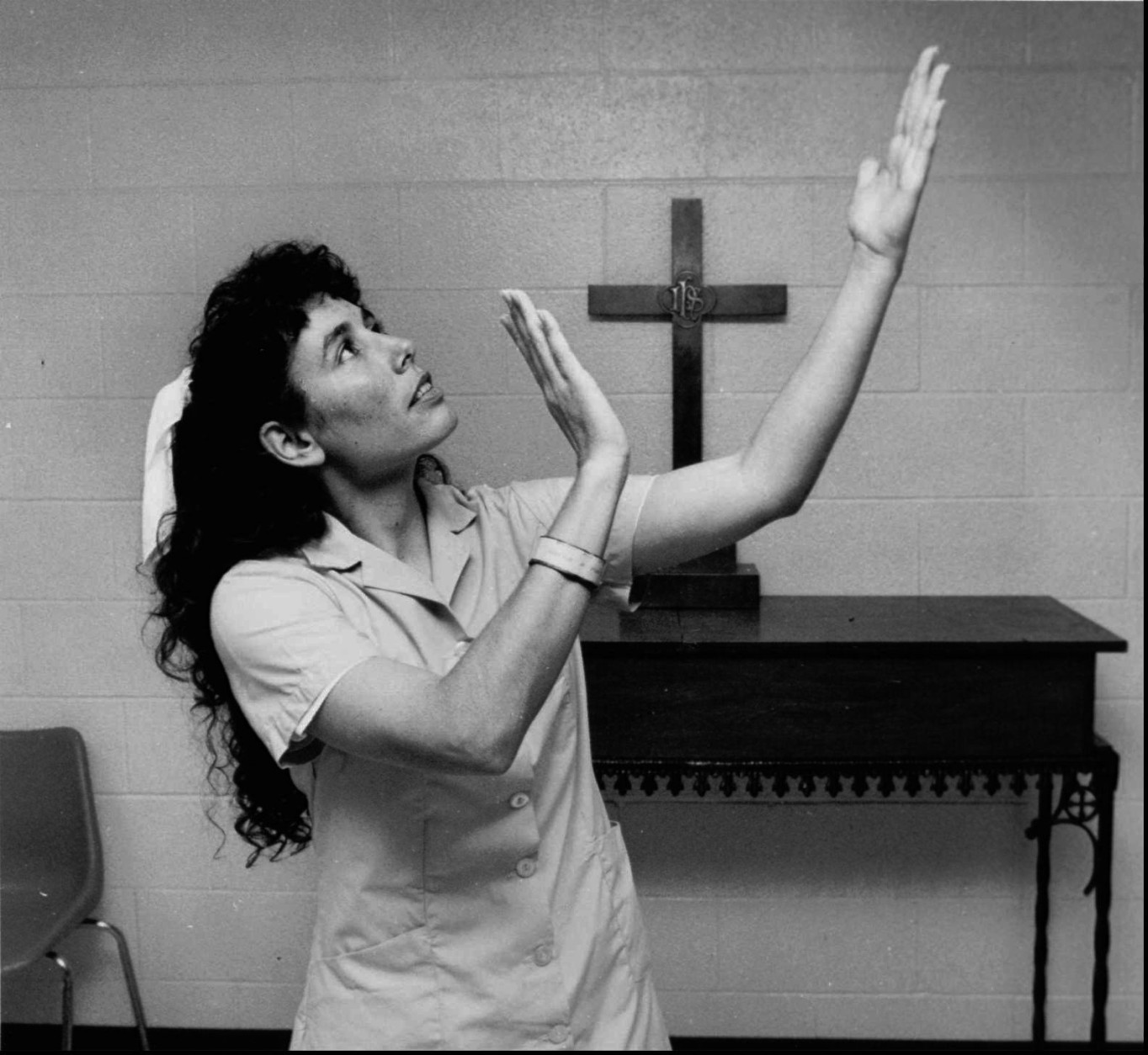 Karla Faye Tucker, shown in this undated photo, in Gatesville, Texas, lost an appeal Monday, Dec. 8, 1997, before the U.S. Supreme Court, clearing the way for the first execution of a woman in Texas since 1863. Tucker was convicted of the 1983 killing of a Houston man with a pickax. (AP Photo)