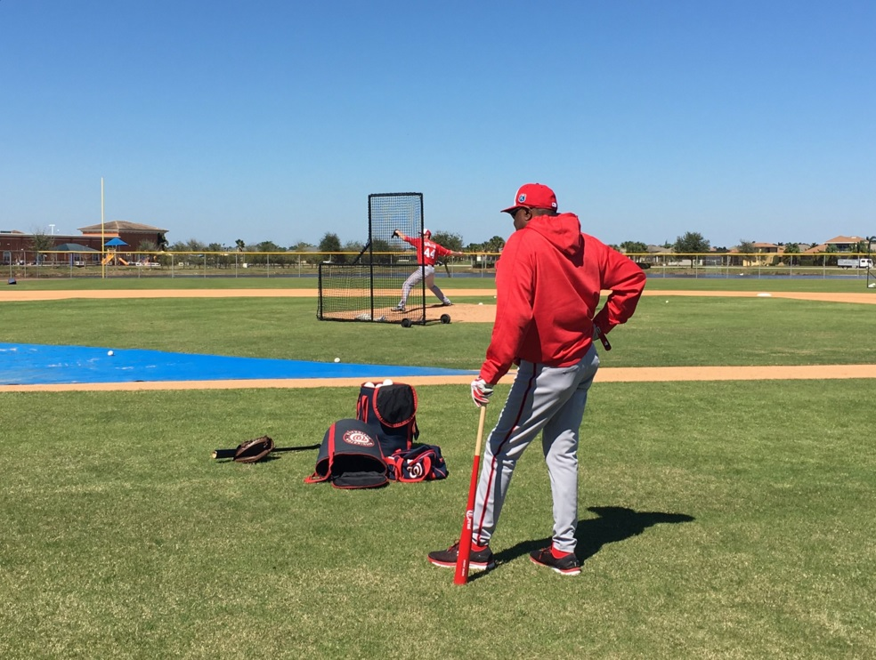 'Royce' and the Nats take the field for first workout