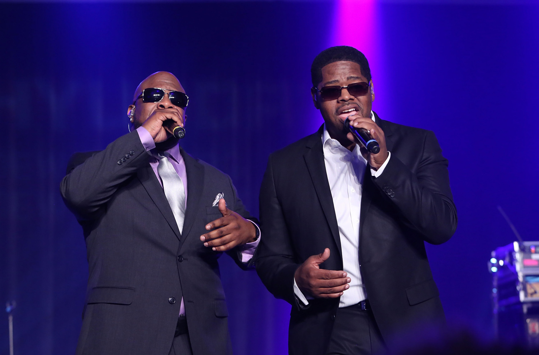 PASADENA, CA - FEBRUARY 05: Singers Wanya Morris and Nathan Morris of Boyz II Men perform during the 47th NAACP Image Awards Presented By TV One After Party at the Pasadena Civic Auditorium on February 5, 2016 in Pasadena, California.  (Photo by Jesse Grant/Getty Images for NAACP Image Awards)