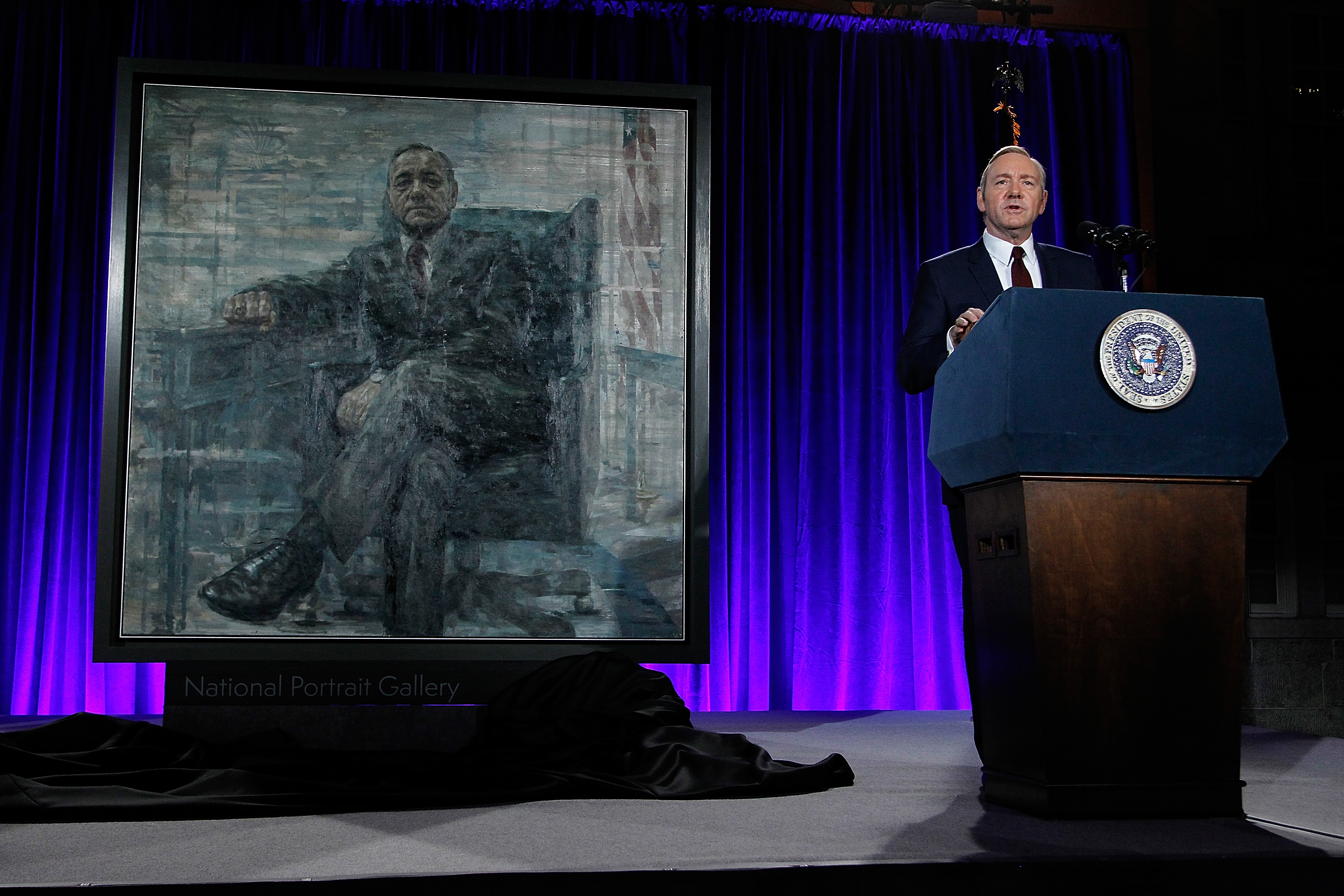 Portrait of Netflix's 'President' Underwood on view in D.C.