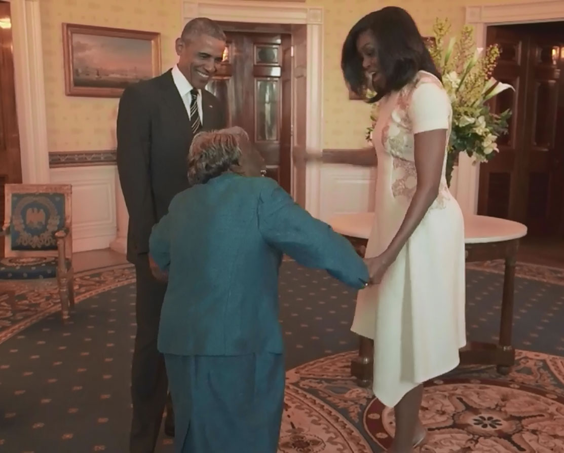 Woman, 106, visits White House, breaks into dance (Video)