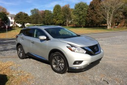 The redesigned Murano SL has gone from an odd-looking crossover to a high-style machine on the outside with interesting shapes and angles up front. (WTOP/Mike Parris)