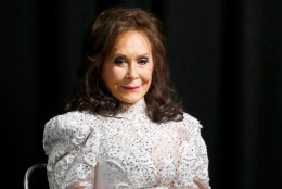 """In this Feb. 10, 2016 photo, Loretta Lynn poses for a photo at the Municipal Auditorium in Nashville, Tenn. The country icon's Appalachian musical roots are explored on a new """"American Masters"""" documentary on PBS as well as her first new studio album in a more than a decade, """"Full Circle,"""" both debuting on March 4. (Photo by Donn Jones/Invision/AP)"""