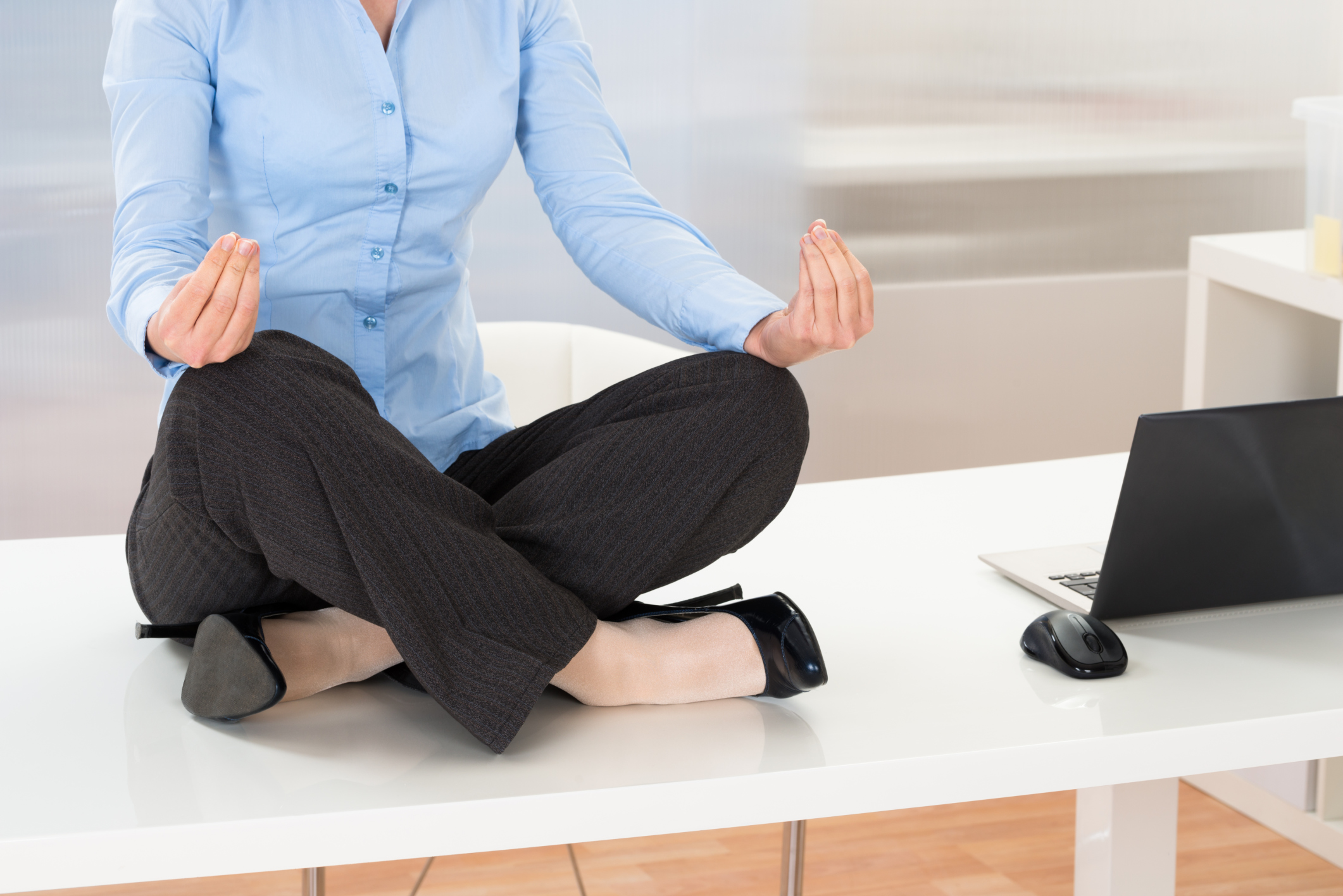 Stressful day? Work some yoga into your workday