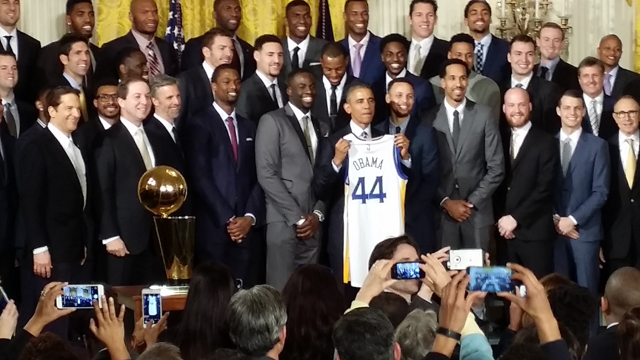 Golden State Warriors visit White House