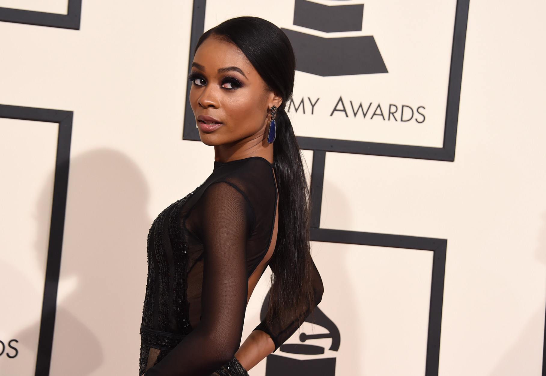Zuri Hall arrives at the 58th annual Grammy Awards at the Staples Center on Monday, Feb. 15, 2016, in Los Angeles. (Photo by Jordan Strauss/Invision/AP)