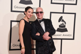 Victoria Shaffer, left, and Paul Shaffer arrive at the 58th annual Grammy Awards at the Staples Center on Monday, Feb. 15, 2016, in Los Angeles. (Photo by Jordan Strauss/Invision/AP)