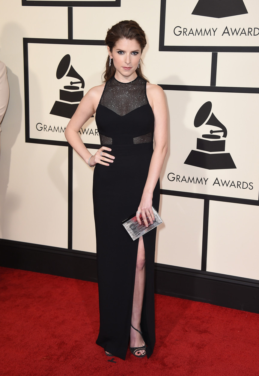 Anna Kendrick arrives at the 58th annual Grammy Awards at the Staples Center on Monday, Feb. 15, 2016, in Los Angeles. (Photo by Jordan Strauss/Invision/AP)