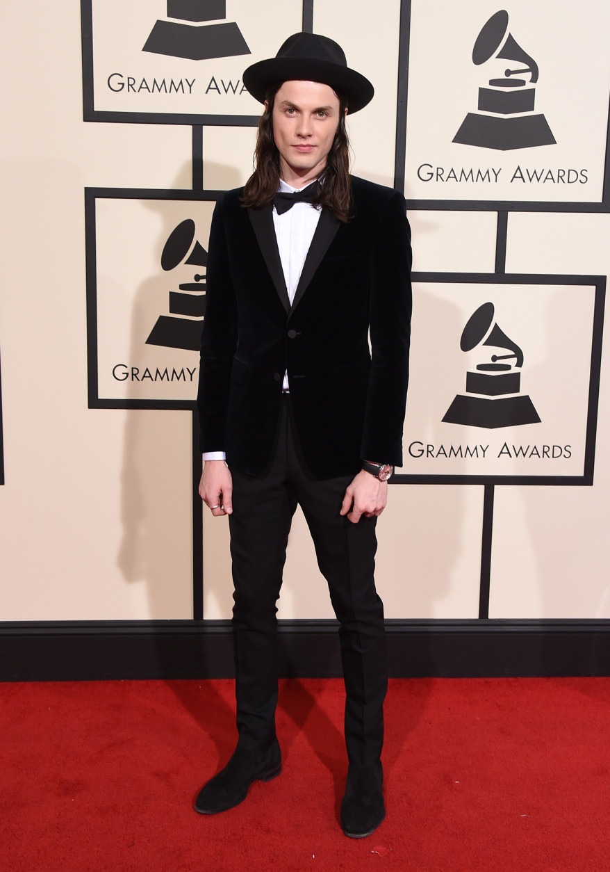 James Bay arrives at the 58th annual Grammy Awards at the Staples Center on Monday, Feb. 15, 2016, in Los Angeles. (Photo by Jordan Strauss/Invision/AP)