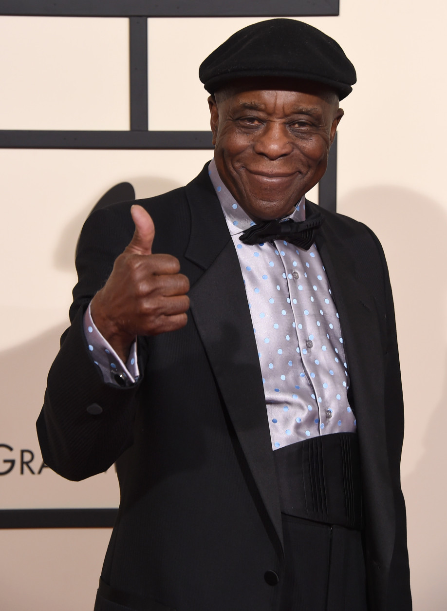 Buddy Guy arrives at the 58th annual Grammy Awards at the Staples Center on Monday, Feb. 15, 2016, in Los Angeles. (Photo by Jordan Strauss/Invision/AP)
