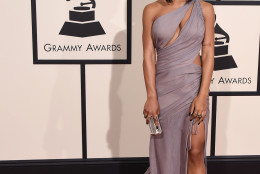 Serayah arrives at the 58th annual Grammy Awards at the Staples Center on Monday, Feb. 15, 2016, in Los Angeles. (Photo by Jordan Strauss/Invision/AP)