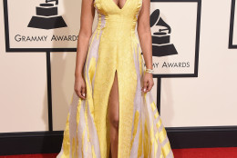 Vanessa Simmons arrives at the 58th annual Grammy Awards at the Staples Center on Monday, Feb. 15, 2016, in Los Angeles. (Photo by Jordan Strauss/Invision/AP)