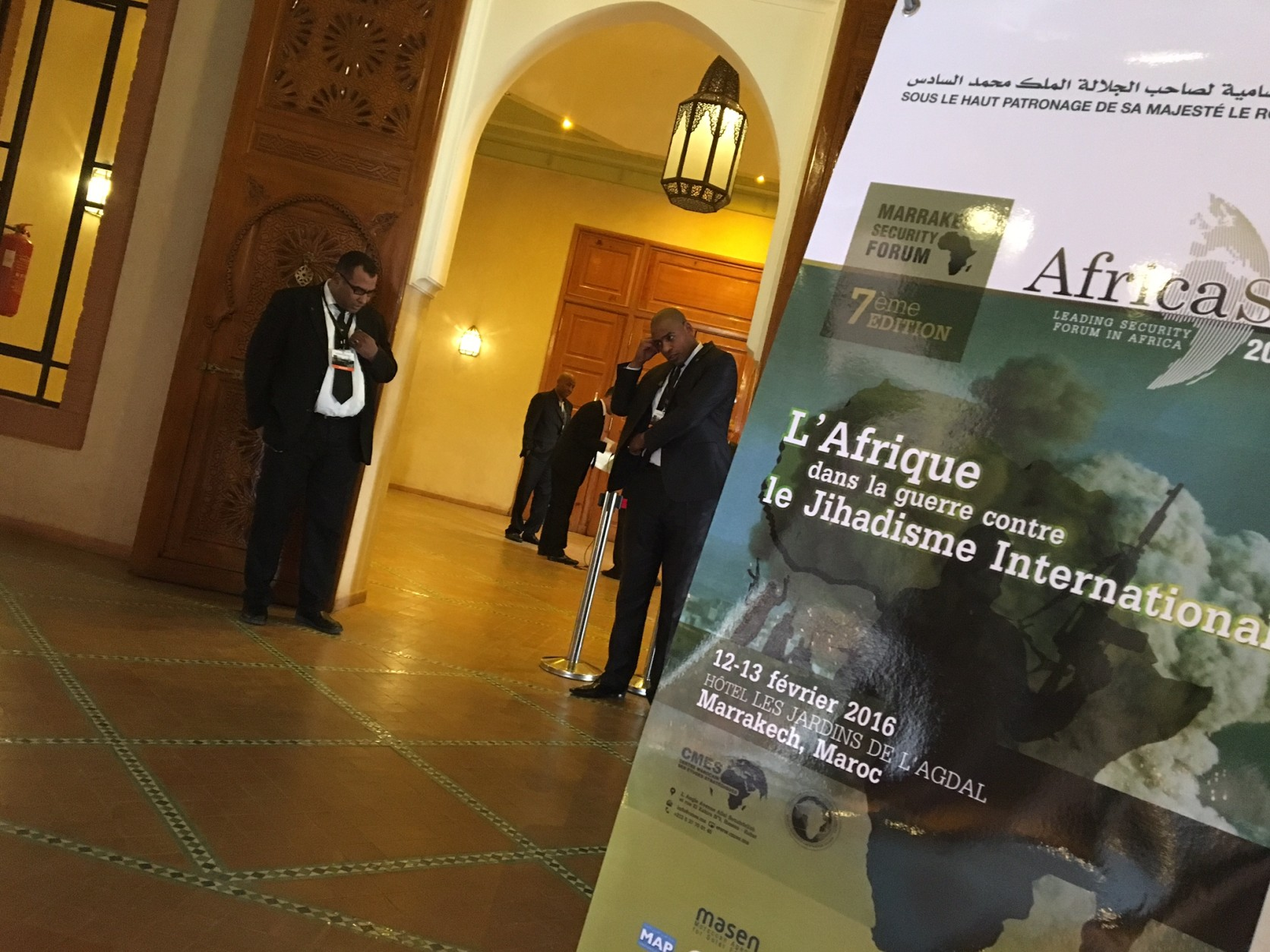 Amid stepped up security, hundreds of political, intelligence and military officials from all over the world gathered in Morocco for the Marrakech Security Forum to urgently confront the worsening terrorism problem. U.S. political and military decisions of the past, which some in attendance called mistakes, were the target of strong criticism. (WTOP/J.J. Green)