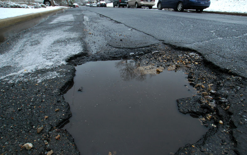 The pothole prognosis for spring 2018 is not pretty, AAA says