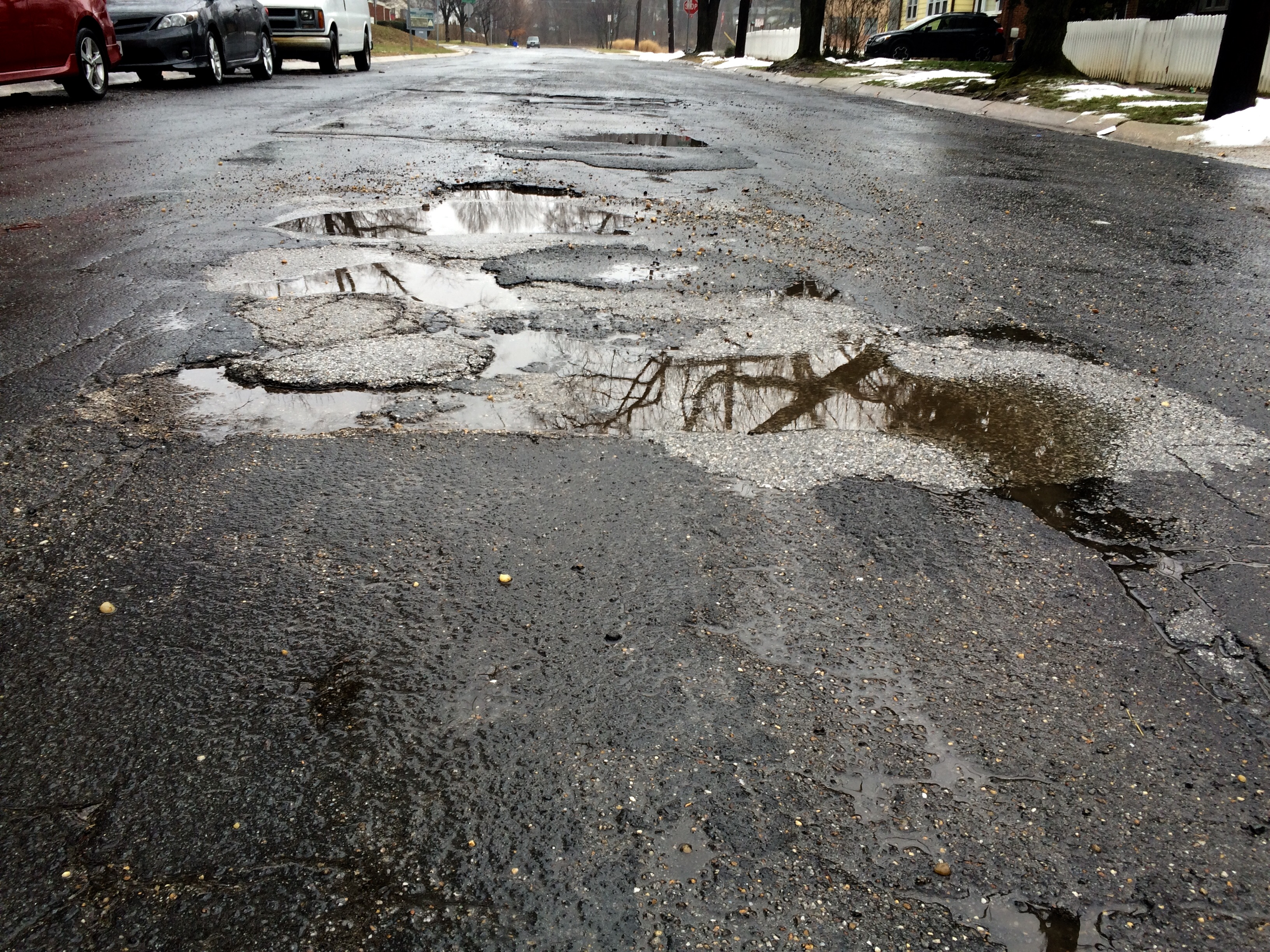 Pothole problems prompt Park Service to ask drivers to slow down, consider transit