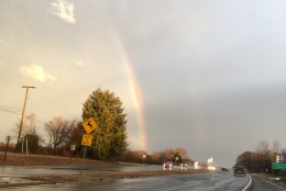 A double rainbow spotted off Exit 28, Route 66, in Marshall, Virginia. (Courtesy WTOP User)