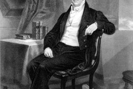 This is an undated sketch of American inventor Eli Whitney. Whitney invented the cotton-gin, which separated the cotton fibre from the seeds. It was patented in 1793. (AP Photo)