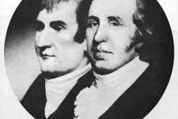 This is an undated photo of a portrait of explorers Meriwether Lewis, left, and William Clark.  (AP Photo)