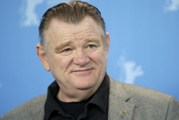 Actor Brendan Gleeson poses for the photographers during a photo call for the film 'Alone in Berlin' at the 2016 Berlinale Film Festival in Berlin, Germany, Monday, Feb. 15, 2016. (AP Photo/Michael Sohn)