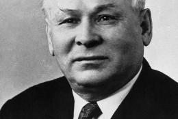 """Photo shows Soviet leader Konstantin U. Chernenko, shown on April 8, 1976, said Sunday recent """"contacts"""" with the U.S. have yielded no sign the super-powers can break their deadlock on arms control. The comment, which did not specify what was meant by """"contacts,"""" was reported by the Soviet news agency Tass. (AP Photo)"""