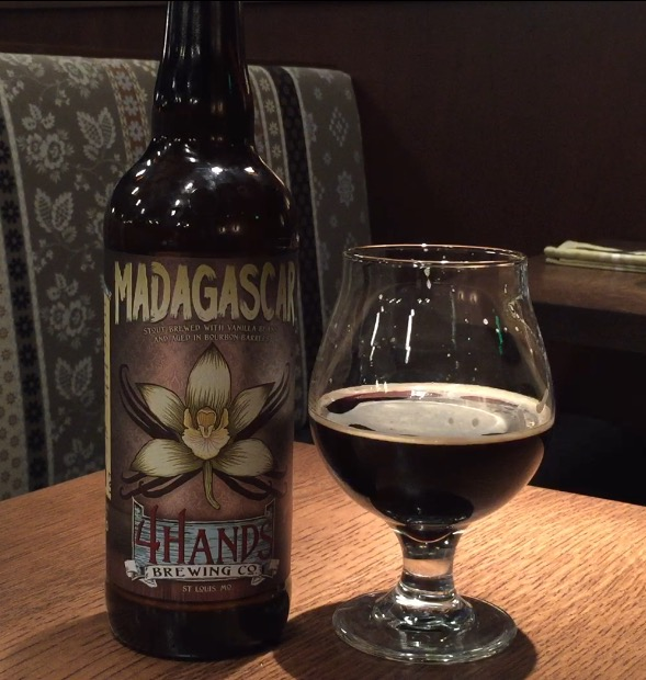 4 Hands Madagascar Imperial Milk Stout is aged in bourbon barrels with whole vanilla beans (WTOP/Brennan Haselton)