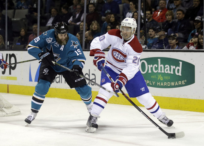 Canadiens claim rugged right winger Mike Brown off waivers from San Jose