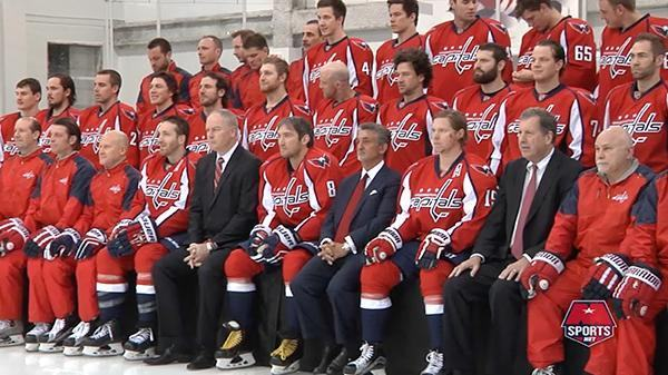 The Caps put on their best faces to pose for the 2015-16 team photo at  Kettler Capitals Iceplex. 3693f179924