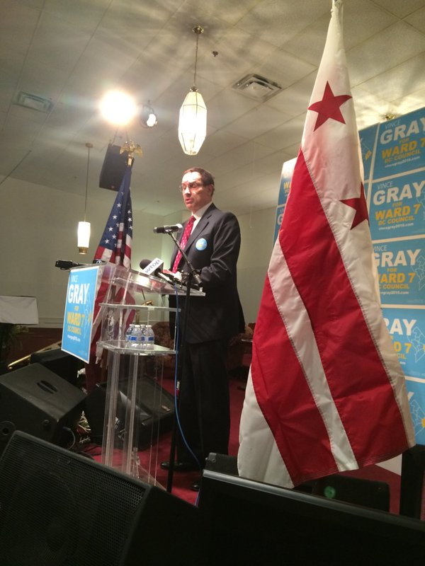Former D.C. mayor Gray kicks off D.C. Council campaign