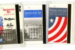A look at the fare cards for Inauguration Day from 1993 - 2009. (Courtesy WMATA)