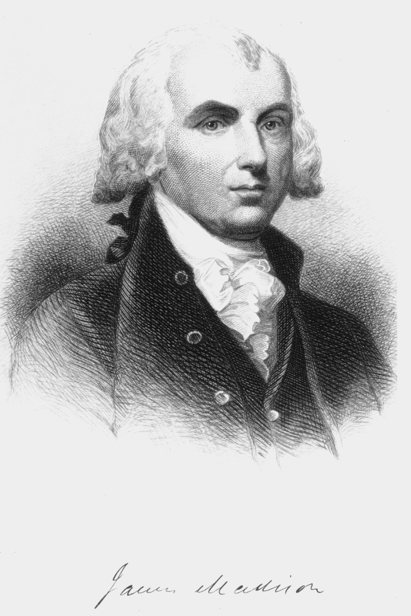 US President James Madison (1751 - 1836), circa 1790. (Photo by Hulton Archive/Getty Images)
