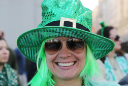 NEW YORK, NY - MARCH 17:  A spectator at the 255th annual St. Patricks Day Parade along Fifth Avenue in New York City on March 17, 2016 in New York City.  (Photo by Jemal Countess/Getty Images)