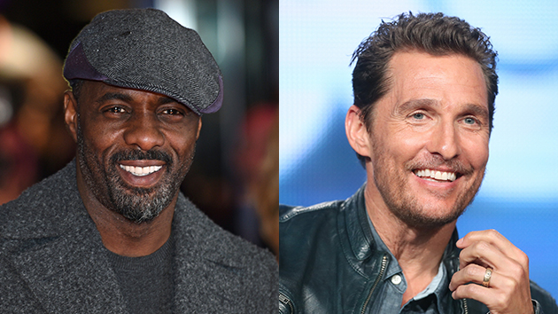 55b678c90299c (NEW YORK) — Idris Elba has been cast alongside Matthew McConaughey in the  long-awaited film adaptation of Stephen King s The Dark Tower series.