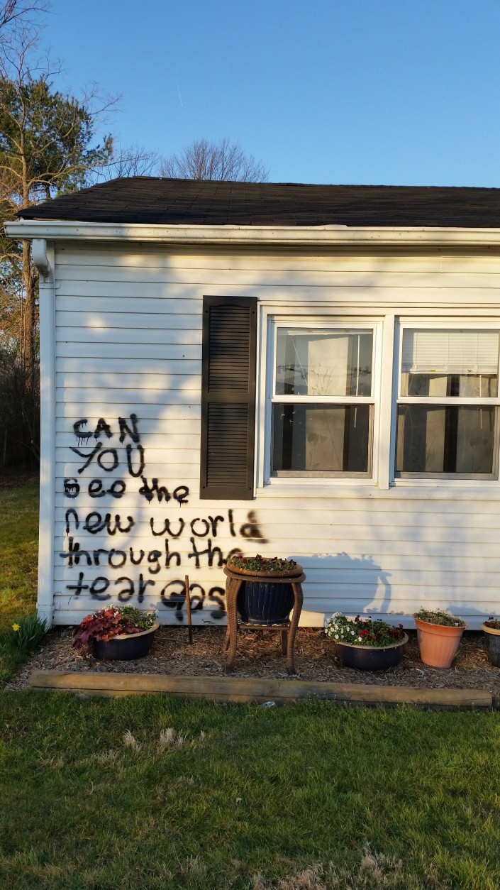 Judy Beaty, 70, of Gainesville, Virginia says her home has been vandalized.