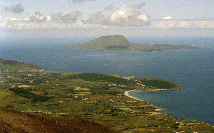 Irish Ancestry FILE   This June          file photo provides a view of Clare Island from the top of Croagh Patrick  the       foot peak in County Mayo where