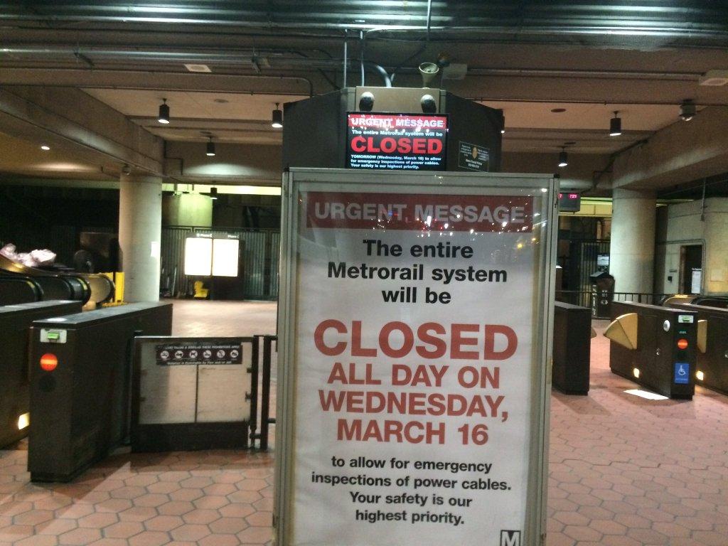 Metro shutdown making for an unusual commute