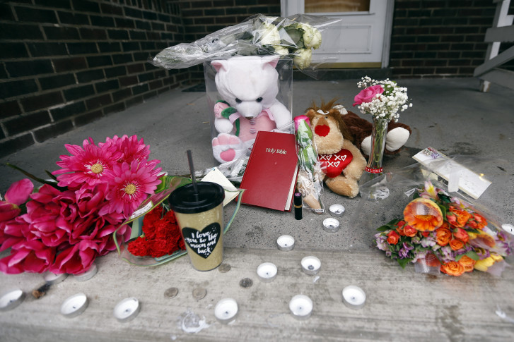 Multiple Shooting Pennsylvania A Makeshift Memorial Is On The Front Porch Of House Friday March 11 2016 In Wilkinsburg Pa At Backyard