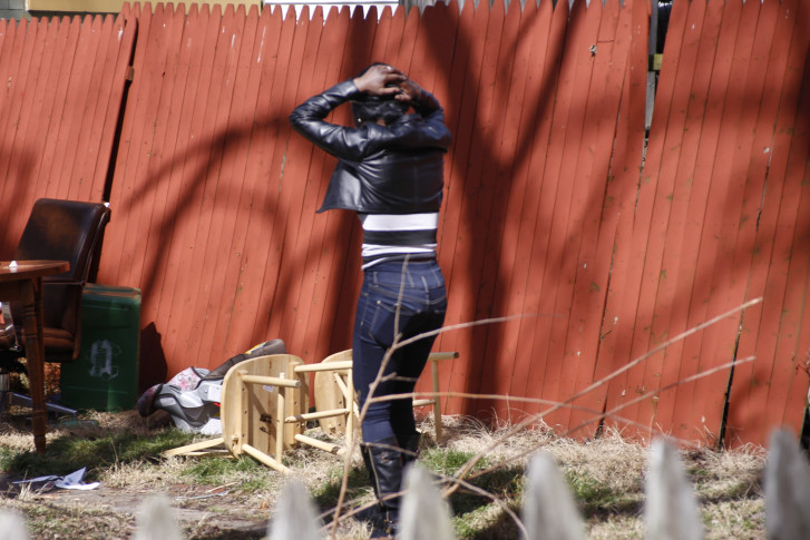 Multiple Shooting Pennsylvania A Woman Holds Her Head As She Weeps While Walking Through The Backyard Of House Friday March 11 2016 Where