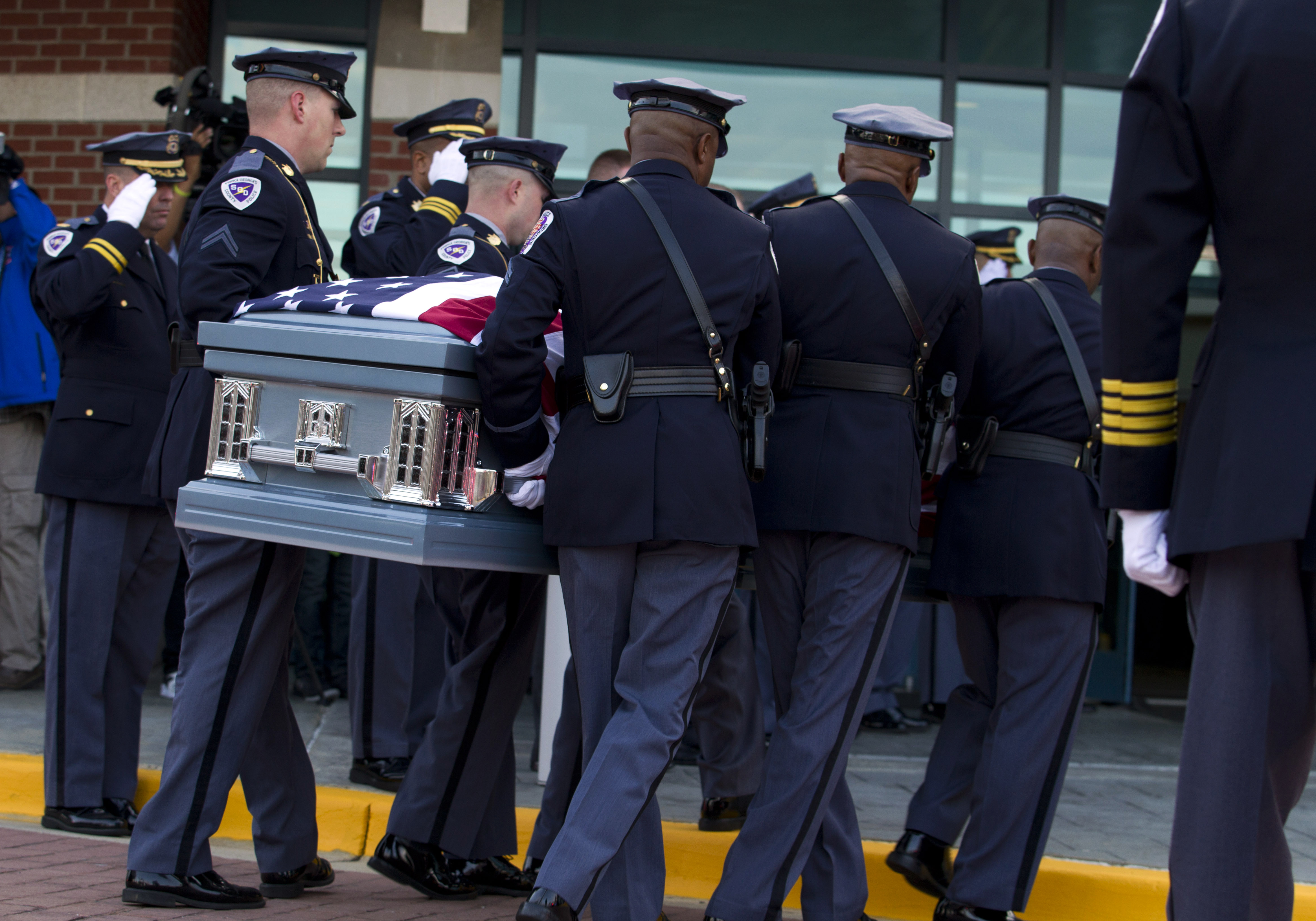 Thousands gather to mourn Md. officer killed in police station gunfight