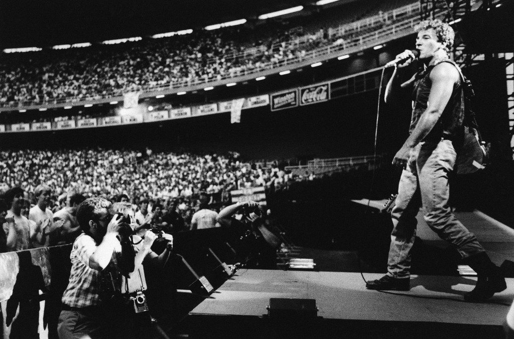 Bruce Springsteen launched his 1985 North American tour with this show at RFK.  (AP Photo/Scott Stewart)