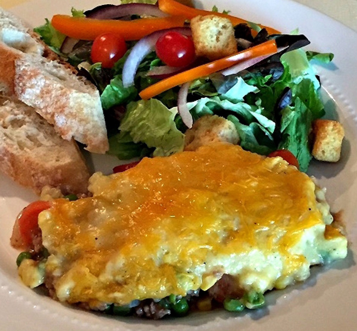 """<a href=""""http://www.mashupmom.com/shepherds-pie/"""">Blogger Mashup Mom</a> has a frugal recipe and great visuals for those interested in cooking Shepherd's Pie. (Courtesy Rachel Gordon/Mashup Mom)"""