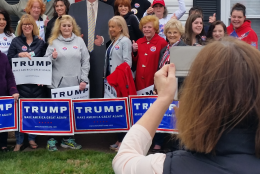 Sunday, a group of Donald Trump supporters showed up at Beaty's home for a rally.