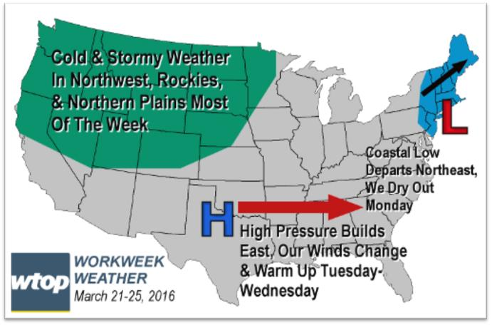 Winter tried while spring arrived, but spring temperatures return by mid-week