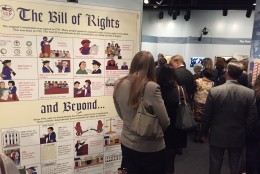 Visitors get a first look at the exhibit. (WTOP/Megan Cloherty)