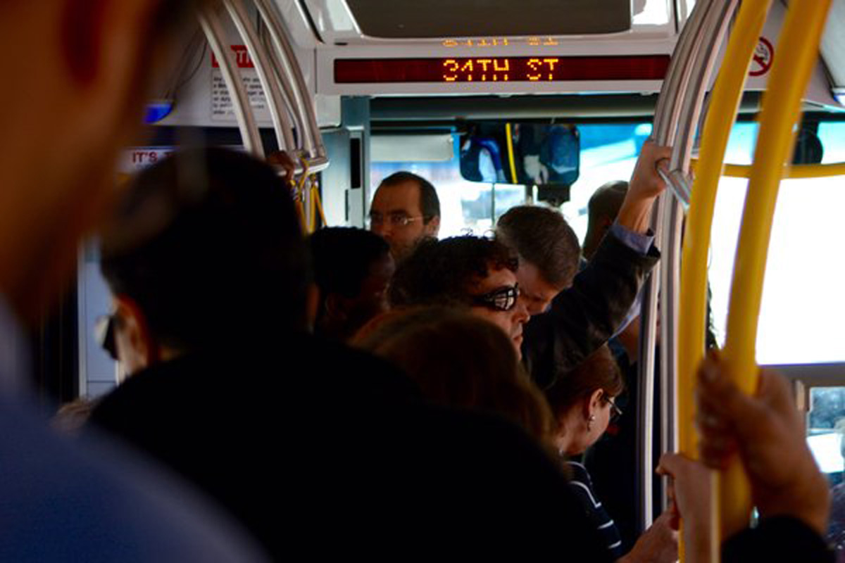 PHOTOS: Metrorail commuters crowd streets, cabs and buses amid shutdown