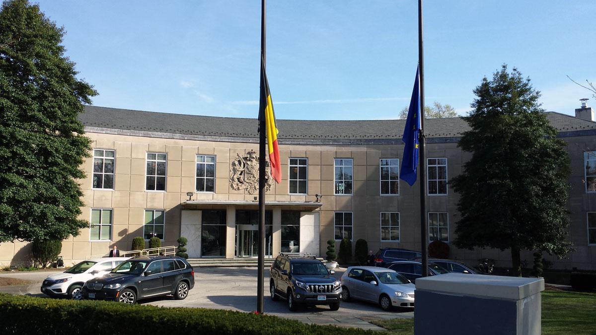 The Belgian Embassy in Washington, D.C. (WTOP/Matt Ritter)