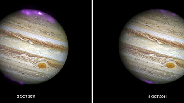 Jupiter's X-Ray aurora glimmers during solar storm