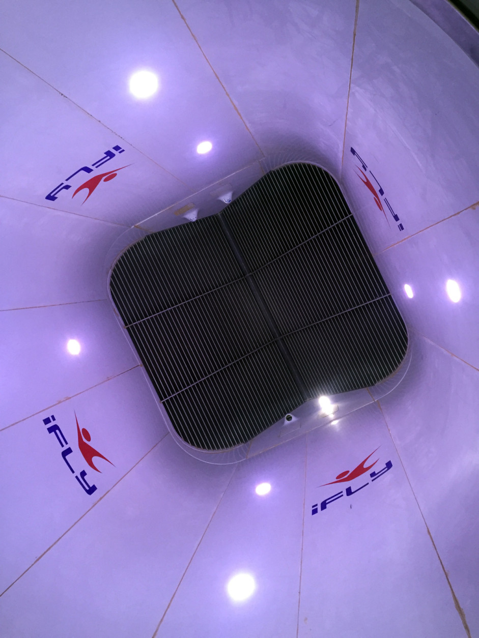A look at the inside of the flight chamber at iFLY. (WTOP/John Aaron)