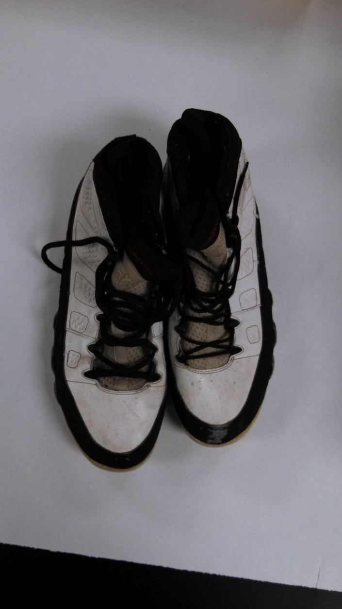 Detectives found a bloody pair of shoes in Sobotker's home. DNA tests later confirmed the blood was that of Jonathan Harris. (Photo courtesy of the Montgomery County State's Attorney's Office)