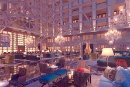 """An artist's rendering of the atrium, where Donald Trump says many architectural features are """"landmarked"""" and could not be changed. (WTOP/Megan Cloherty)"""