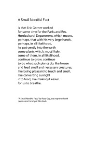 """""""A Small Needful Fact,"""" by Ross Gay, was used with permission from Split This Rock's poetry database. http://blogthisrock.blogspot.com/2015/04/poem-of-week-ross-gay.html (WTOP/Dana Gooley)"""